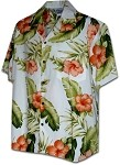 410-3743 White Men's Hawaiian Shirts