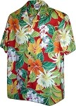 410-3799 Red Men's Hawaiian Shirts