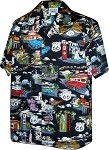 410-3812 Black Men's Hawaiian Shirts