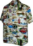 410-3812 Khaki Men's Hawaiian Shirts