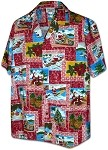 410-3818 Red Men's Christmas Hawaiian Shirts
