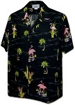 410-3826 Black Men's Hawaiian Shirts
