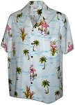 410-3826 White Men's Hawaiian Shirts