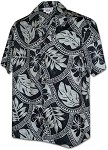 410-3836 Charcoal Men's Hawaiian Shirts