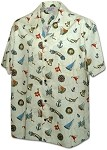 410-3838 Ivory Men's Hawaiian Shirts