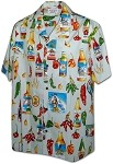 410-3840 Cream Men's Hawaiian Shirts