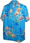 410-3842 Blue Men's Hawaiian Shirts