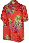 410-3842 Coral Men's Hawaiian Shirts