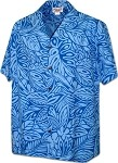 410-3868 Blue Pacific Legend Men's Hawaiian Shirts