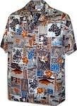 410-3870 Rust Pacific Legend Men's Hawaiian Shirts