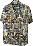 410-3874 Sage Pacific Legend Men's Hawaiian Shirts