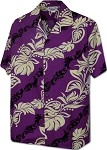 410-3876 Purple Pacific Legend Men's Hawaiian Shirts