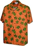410-3892 Orange Men's Pacific Legend Hawaiian Shirts