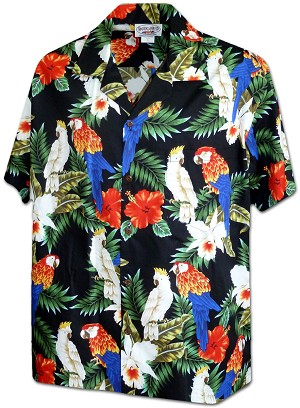 410-3896 Black Men's Pacific Legend Hawaiian Shirts