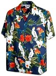 410-3896 Navy Men's Pacific Legend Hawaiian Shirts