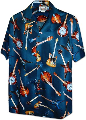 410-3900 Navy Men's Pacific Legend Hawaiian Shirts