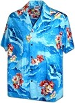 410-3902 Blue Men's Pacific Legend Hawaiian Shirts