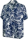 410-3904 Navy Men's Pacific Legend Hawaiian Shirts