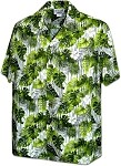 410-3908 Green Men's Pacific Legend Hawaiian Shirts