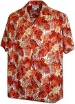 410-3908 Orange Men's Pacific Legend Hawaiian Shirts