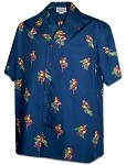 410-3912 Navy Men's Pacific Legend Hawaiian Shirts