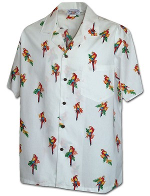 410-3912 White Men's Pacific Legend Hawaiian Shirts