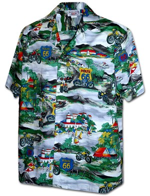 410-3914 Grey Men's Pacific Legend Hawaiian Shirts