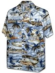 410-3936 Blue Men's Pacific Legend Hawaiian Shirts