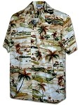410-3936 Khaki Men's Pacific Legend Hawaiian Shirts