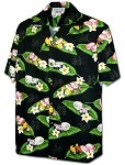 410-3950 Black Men's Pacific Legend Hawaiian Shirts