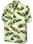 410-3950 Cream Men's Pacific Legend Hawaiian Shirts