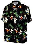 410-3952 Black Men's Pacific Legend Hawaiian Shirts