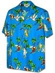 410-3952 Blue Men's Pacific Legend Hawaiian Shirts