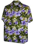 410-3956 Purple Men's Pacific Legend Hawaiian Shirts