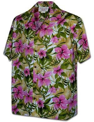 410-3956 Pink Men's Pacific Legend Hawaiian Shirts