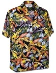 410-3968 Black Men's Pacific Legend Hawaiian Shirts
