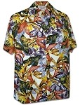 410-3968 Cream Men's Pacific Legend Hawaiian Shirts