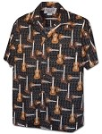 410-3974 Black Pacific Legend Men's Hawaiian Shirts