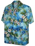 410-3978 Blue Pacific Legend Men's Hawaiian Shirts