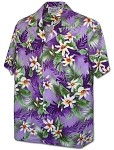 410-3978 Purple Pacific Legend Men's Hawaiian Shirts