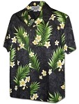 410-3980 Black Pacific Legend Men's Hawaiian Shirts