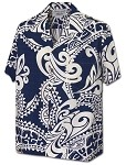410-3984 Navy Pacific Legend Men's Hawaiian Shirts
