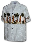 440-3466 White Pacific Legend Men's Border Hawaiian Shirts