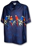 440-3636 Navy Pacific Legend Men's Border Hawaiian Shirts