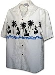 440-3793 White Pacific Legend Men's Border Hawaiian Shirts