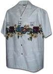 440-3804 Silver Pacific Legend Men's Border Hawaiian Shirts