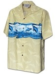 440-3962 Khaki Pacific Legend Men's Hawaiian Shirts