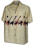440-3966 Khaki Pacific Legend Men's Hawaiian Shirts