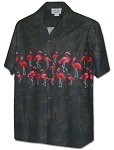 440-3990 Black Pacific Legend Men's Hawaiian Shirts
