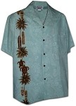444-3757 Sky Pacific Legend Men's Single Panel Hawaiian Shirts